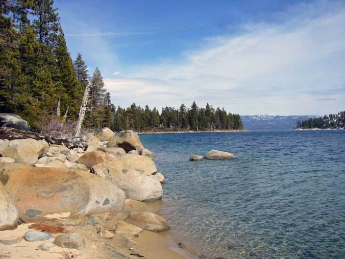 Emerald Point from the west shore of Emerald Bay