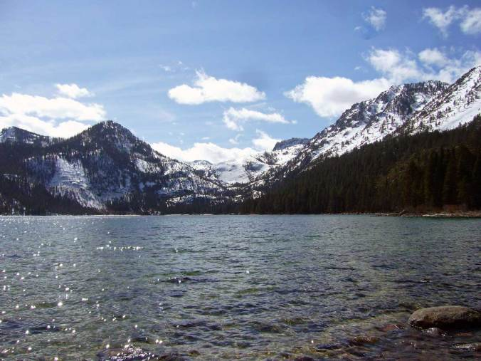 Emerald Bay and Maggie's Peaks (L) from Emerald Point