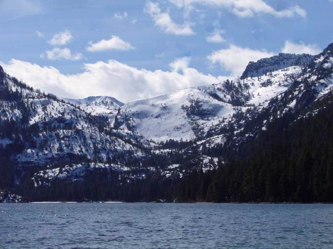 Zoom view of Emerald Bay from Emerald Point
