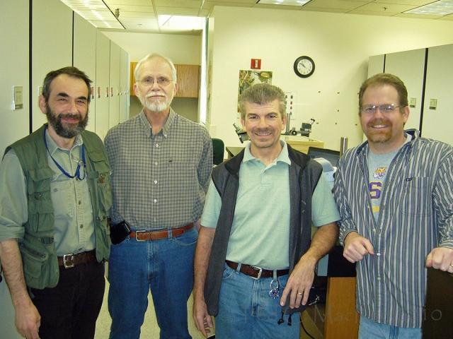 L-R: Mark Volkovitsh (Russia), Chuck Bellamy (CDFA), me, Andy Cline (CDFA)
