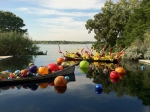 """Float Boat,"" ""Carnival Boat"" & ""Niijima Floats"" by Chihuly"