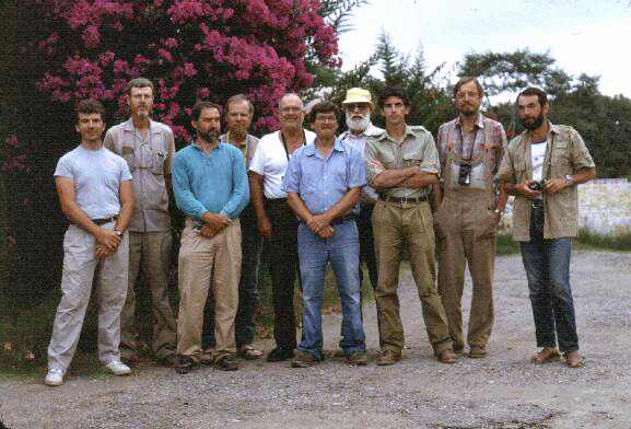 Huahuapan de Leon, Oaxaca, Mexico - July 1992 (L to R): Ted MacRae, Rick Westcott, Hans Mühle, Chuck Bellamy, Gayle Nelson, Byrd Dozier, Dave Verity, Kim Pullen, Svata Bílý, Mark Volkovitsh (photographer unknown).