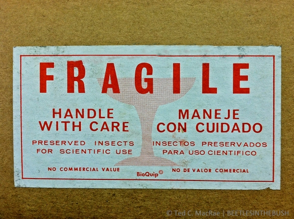 Place a fragile sticker on top and all four sides.