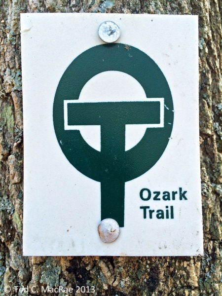 Ozark Trail blaze.