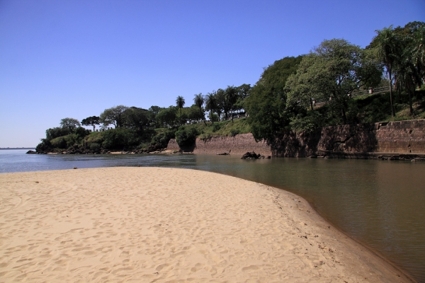 Banks of Rio Paraná, habitat for Brasiella argentata.