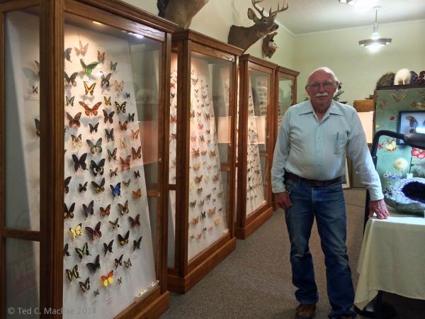 """Beetle"" Bill Smith, founder of Bill & Janet's Nature Museum, Hardtner, Kansas."