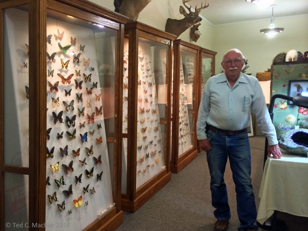 """Beetle"" Bill Smith, founder of Bill & Janet's Nature Museum, Hardtner, Kansas."