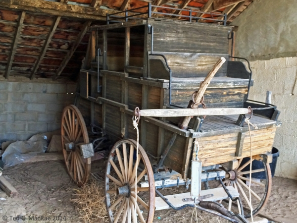 132-year-old stagecoach - model!