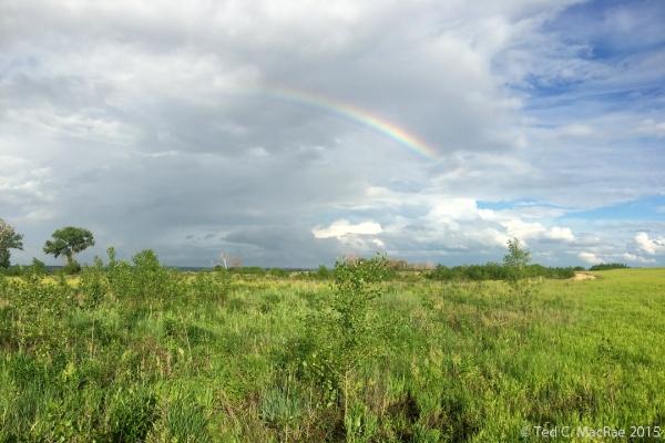 Rainbow over eagle's nest