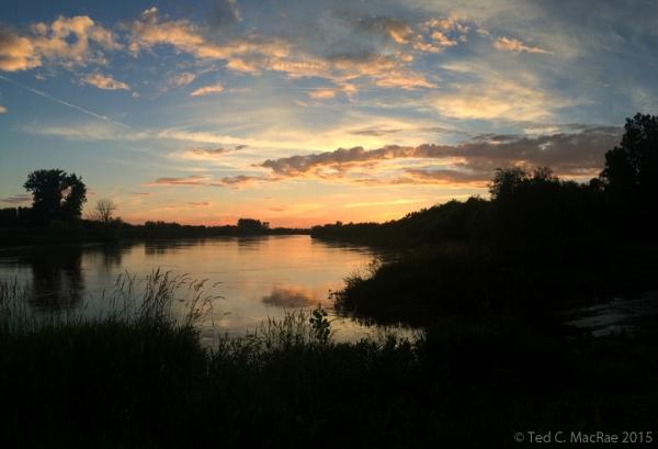 Sunset on the Nishnabotna River